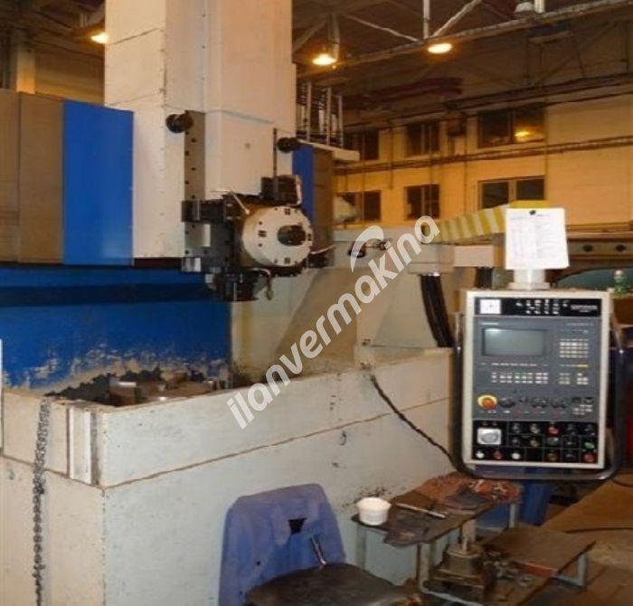 1 Metre Çap CNC Dik Torna Makinesi