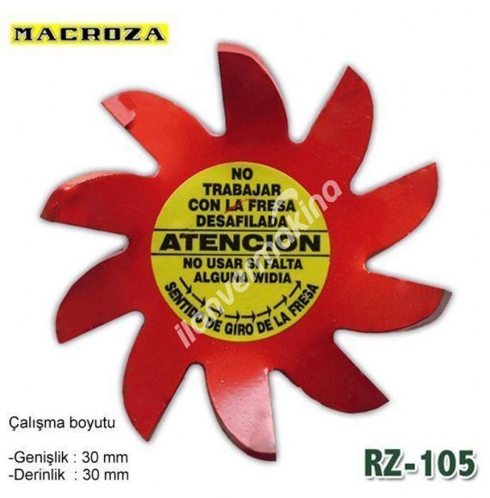 Macroza RZ-105 30 X 30 mm Freze Bıçağı