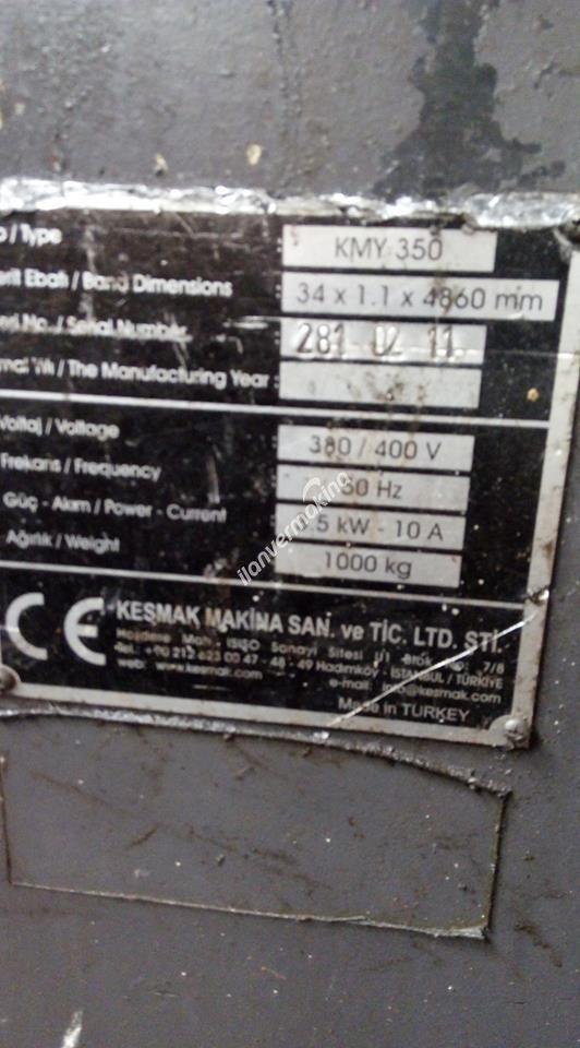 KESMAK KMY 350 ŞERİT TESTERE