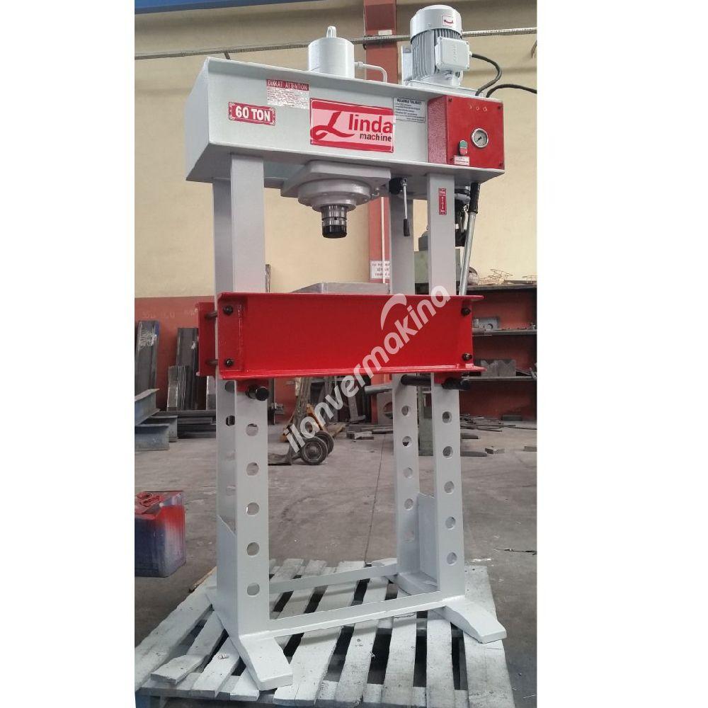 60 Ton Kollu Motorlu Hidrolik ATölye Presi - Hydraulic Workshop Press