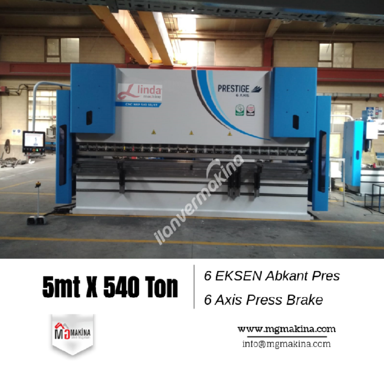 5 Metre 540 Ton 6 Eksen Cnc Abkant Pres - Press Brake