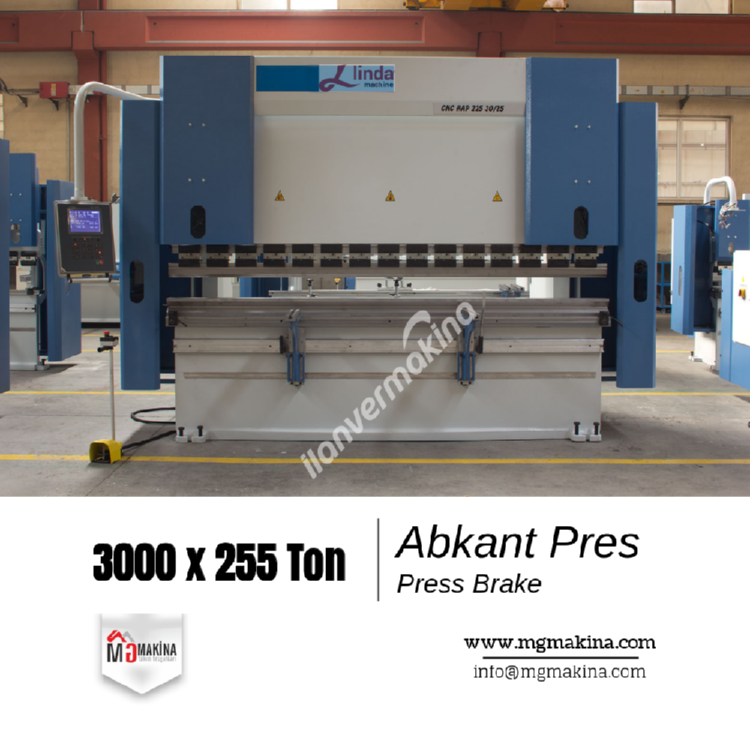 3000 x 225 Ton Abkant Pres - Press Brake