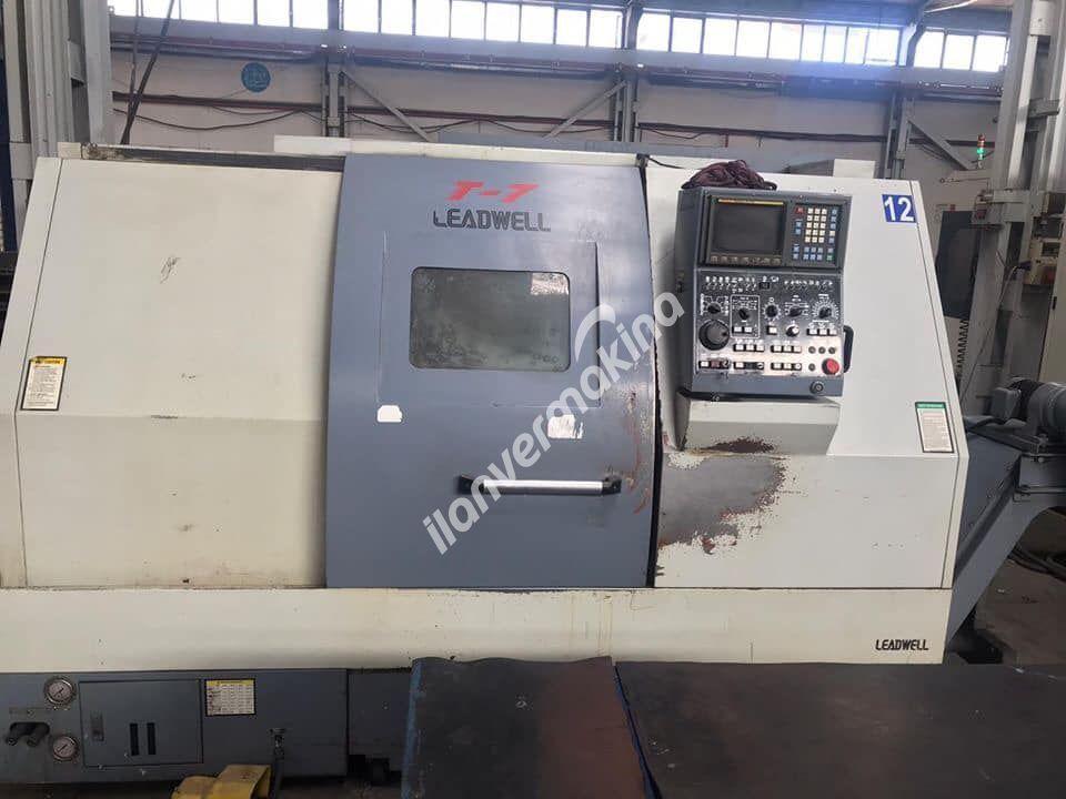 """Leadwell T7 Cnc Torna 2003 Model Ayna 10"""" inç"""