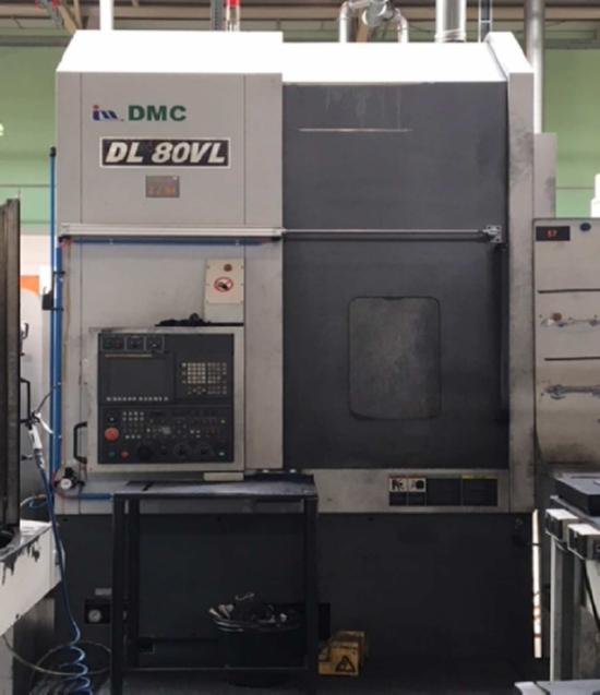 DMC DL80VL Cnc Dik Torna - Cnc Vertical Lathe Machine