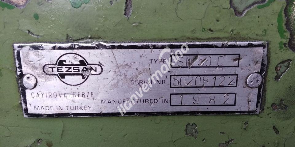 1982 Model Tezsan SN 50 500x2000mm Tos Torna
