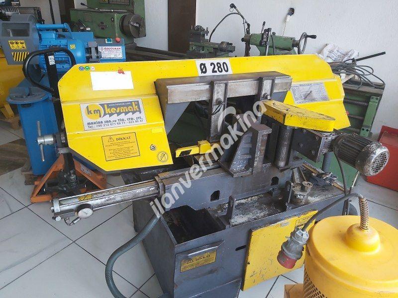 KMO 280 DG Kesmak Tam Otomatik Döner Göbek Açılı Şerit Testere
