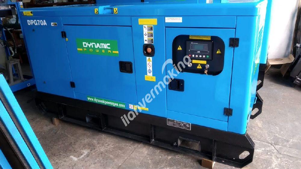 70 kVA Dynamic Power Dizel Jeneratör 1 saatte çok az kullanılmış