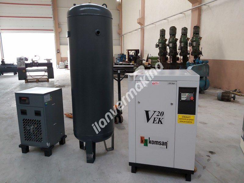 VEK 20 Komsan (Sıfır) 20HP 11KW Set Vidali Kompresör