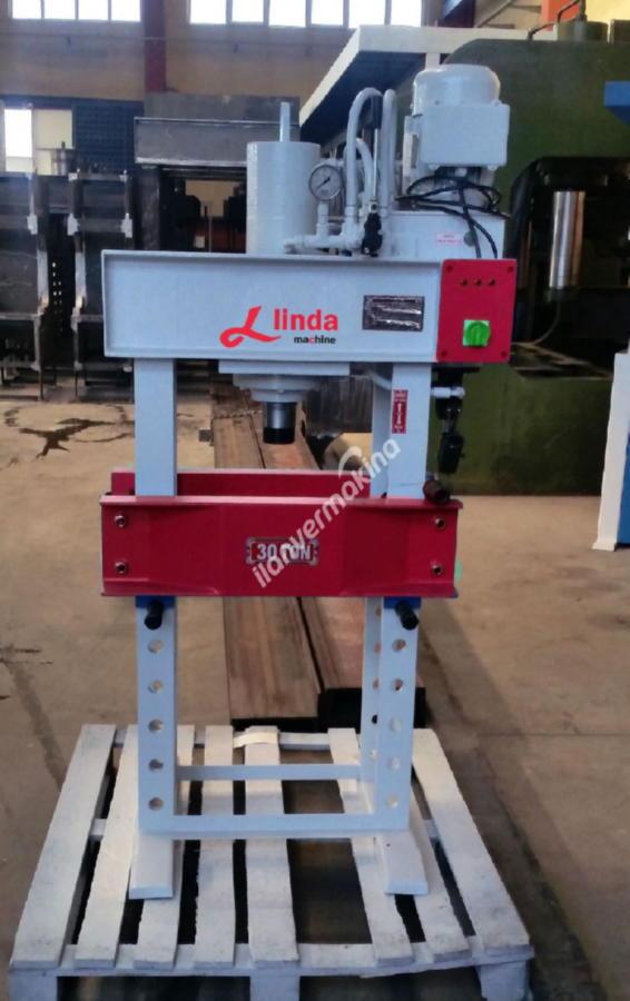 30 Ton Motorlu Kollu Hidrolik Atölye Presi- Hydraulic Workshop Press
