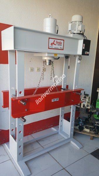 100 Ton Linda Machine Motorlu Hidrolik Atölye Press  - Hydraulic Workshop Press