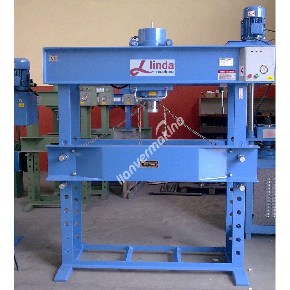 100 Ton Kollu Motorlu Gezer Kafalı Hidrolik Atölye Presi - Hydraulic Workshop Press