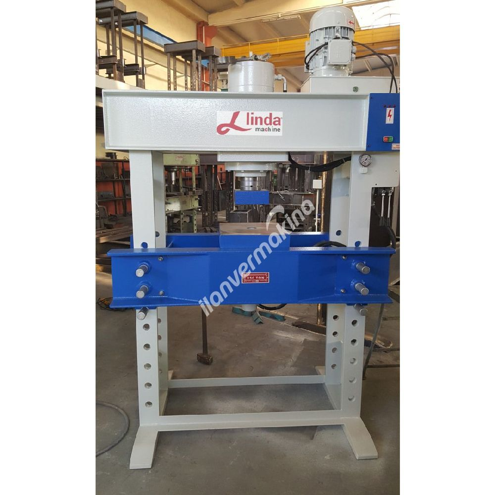 150 Ton Hidrolik Alttan İtmeli Atölye Presi - Hydraulic Workshop Pushing Press Bottom