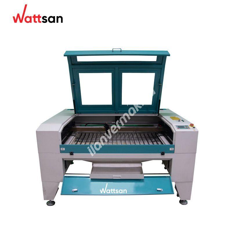Wattsan 1390 ST - 1300x900 mm çalışma alanlı CO2 lazer kesim - kazıma makinesi