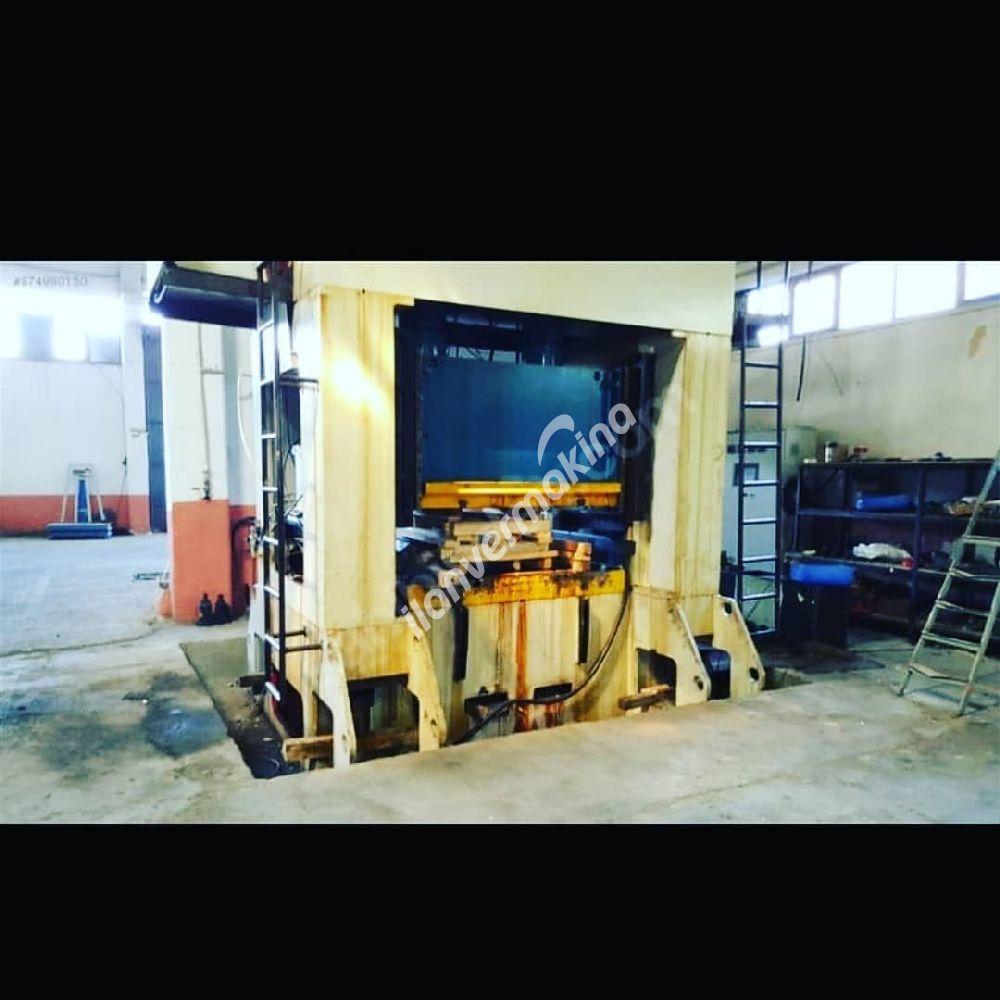 Eksantrik pres h tipi 630 ton 1800x1200 tabla ölçüsü sarılarında dahi çizik yoktur çok temiz zemin üstü satılık