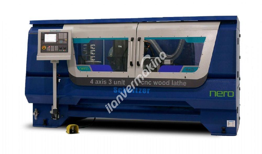 4 Eksen CNC Ahşap Torna Makinesı - Schnitzer Makine